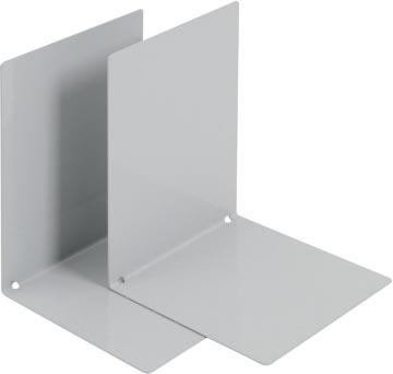 V-Part Bloc-livres métal, lot de 2 pièces, gris