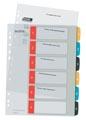 Leitz Cosy intercalaires, ft A4, perforation 11 trous, PP, couleurs assorties, set 1-6