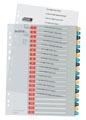 Leitz Cosy intercalaires, ft A4, perforation 11 trous, PP, couleurs assorties, set 1-20